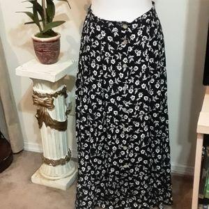 Talbots button down maxi skirt